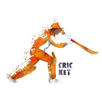 Batsman background in abstract style