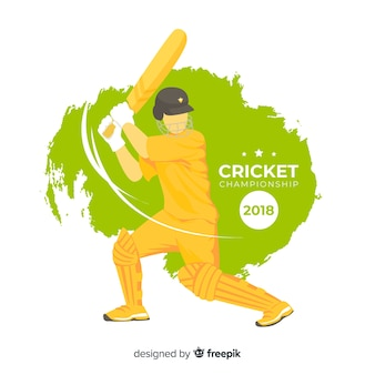 Batsman playing cricket