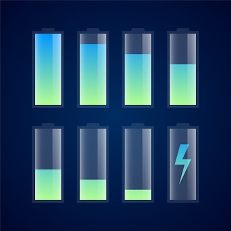 Battery charge indicator icons