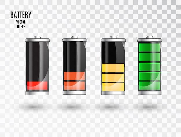 Battery charging. battery charging status indicator.
