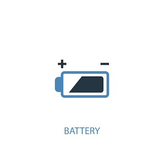 Battery concept 2 colored icon. simple blue element illustration. battery concept symbol design. can be used for web and mobile ui/ux