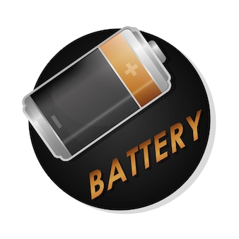 Battery concept with icon design