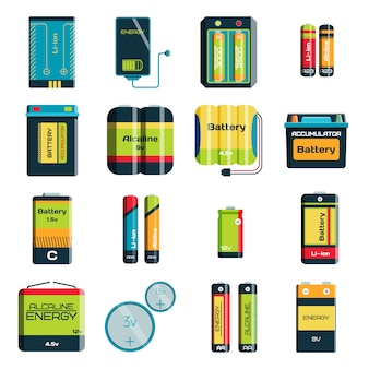 Battery electricity charge technology and alkaline battery. flat battery accumulator charger symbol generation voltage.