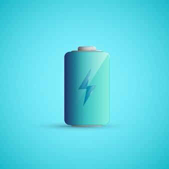 Battery icon illustration.