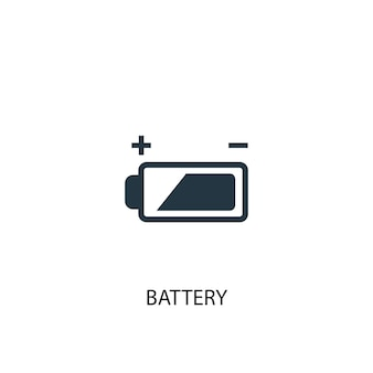 Battery icon. simple element illustration. battery concept symbol design. can be used for web and mobile.