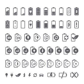 Battery icons collection