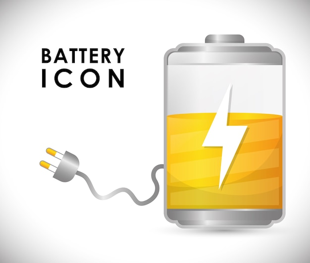 Battery icons graphic design
