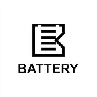 Battery logo simple line art design template