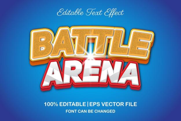 Редактируемый текстовый эффект боевой арены 3d