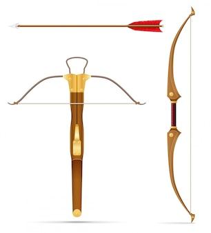 Боевой арбалет и лук средневековый