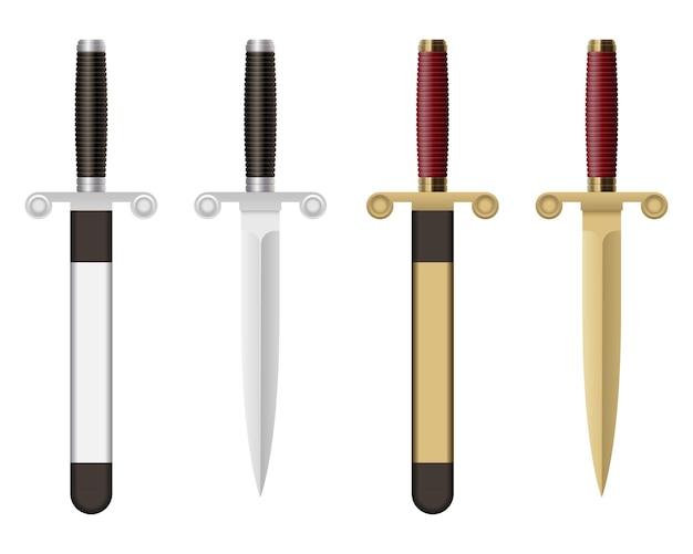Battle dagger isolated