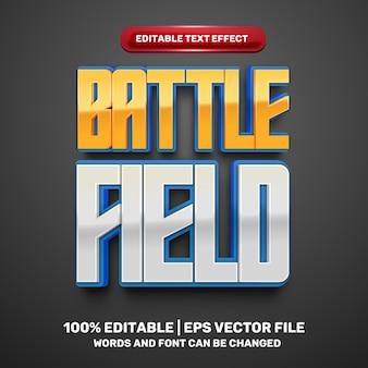 Battle field comic cartoon game 3d editable text effect
