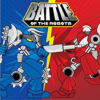 Battle of The Robots Background Design