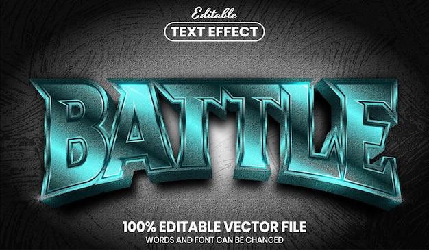 Текст битвы, редактируемый текстовый эффект стиля шрифта