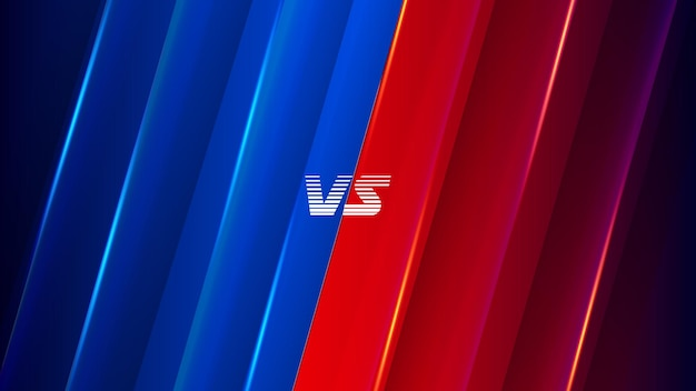 Battle versus vs background for sports game battle versus background with blue and red color
