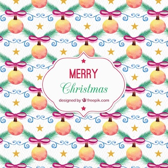 Bauble christmas background