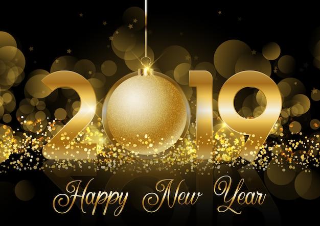 С новым годом bauble фон