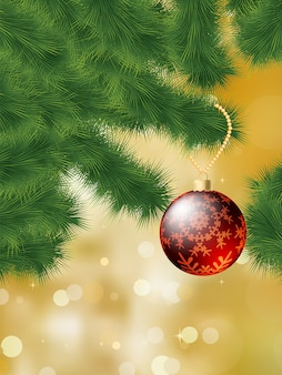 Baubles hanging on a christmas tree.   file included