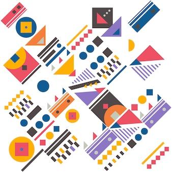 Bauhaus abstract memphis background