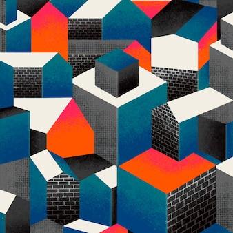 Bauhaus inspired pattern background