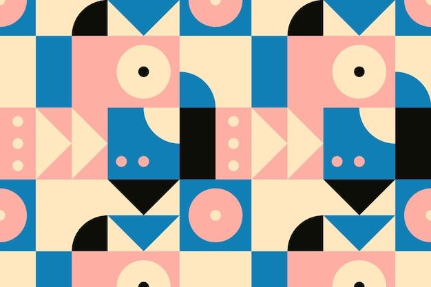 Баухаус вдохновил шаблон плоский дизайн фона