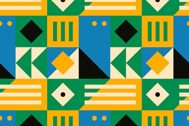Bauhaus inspired pattern flat design background