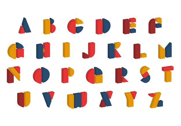 Bauhaus letters and numbers set modern typography russian cyrillic font for events promotions