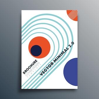 Дизайн ретро геометрических фигур баухауса для флаеров, плакатов, обложек брошюр, типографики или другой полиграфической продукции. векторная иллюстрация.
