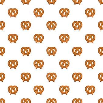 Bavarian pretzel pattern seamless