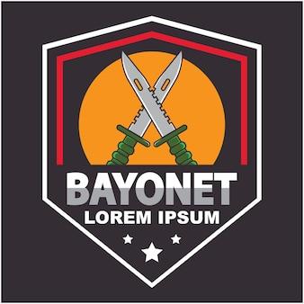 Шаблон логотипа bayonet