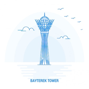 Bayterek tower blue landmark
