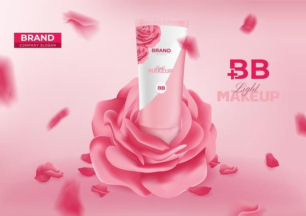 Баннер косметической рекламы bb beauty cream