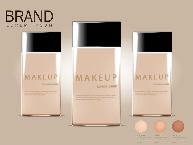 Bb cream ads, compact foundation, attractive