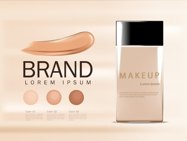 Bb cream ads, compact foundation, attractive