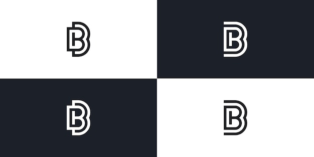 Bb letter initial logo vector icon illustration