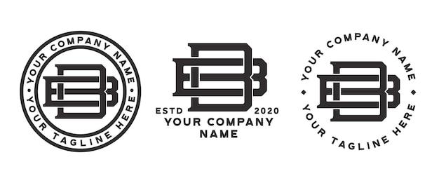 Bb 모노그램 로고 3