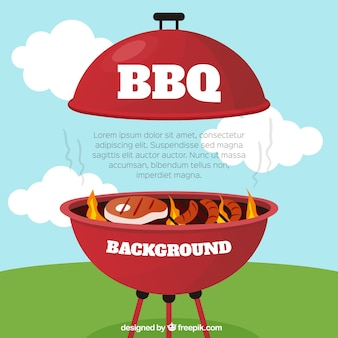 Bbq background with delicous food