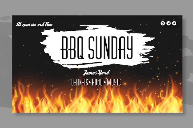 Bbq banner template