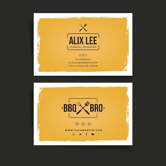 Bbq double-sided business card