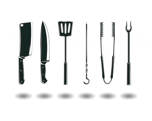 Bbq equipment set