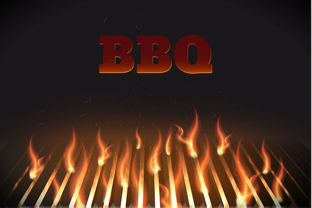 Bbq fire grille eps 10
