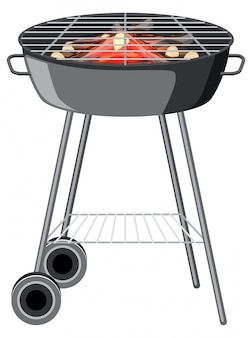 Bbq grill on white