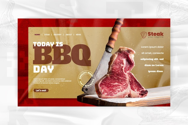 Bbq landing page template