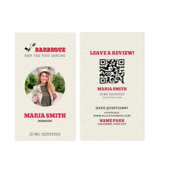 Bbq manager id card template