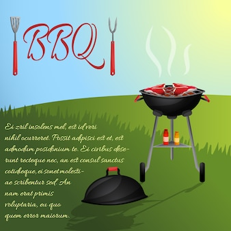 Bbq menu invitation template