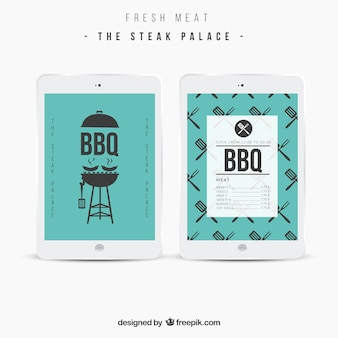 Bbq menu template Free Vector