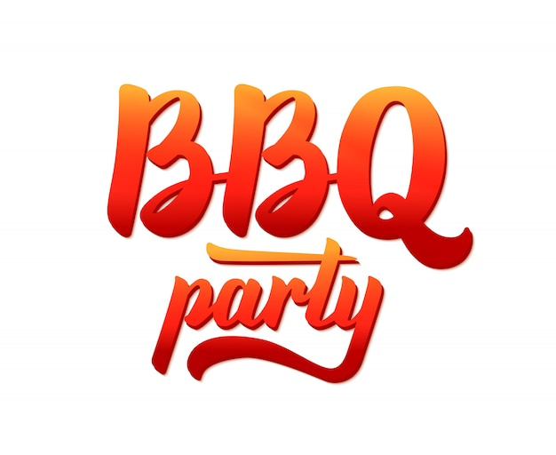 Bbq party logo