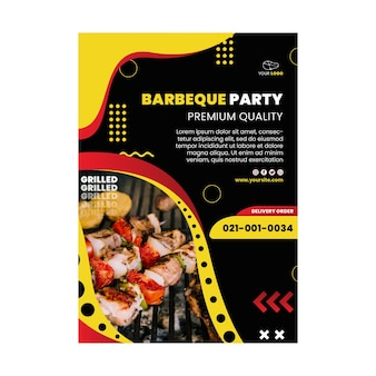 Bbq poster template design