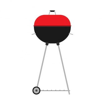 Bbq red grill illustration