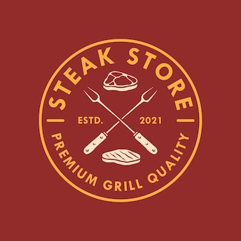 Bbq retro logo design